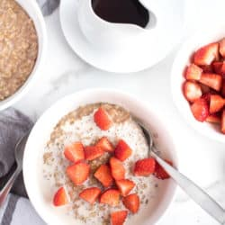 Instant Pot Strawberries and Cream Steel Cut Oats