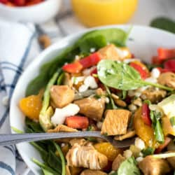 Instant Pot Caribbean Chicken Salad with Sweet Orange Vinaigrette