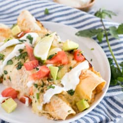 Instant Pot Chipotle Ranch Chicken Enchiladas