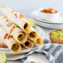 Baked Breakfast Lentil Taquitos