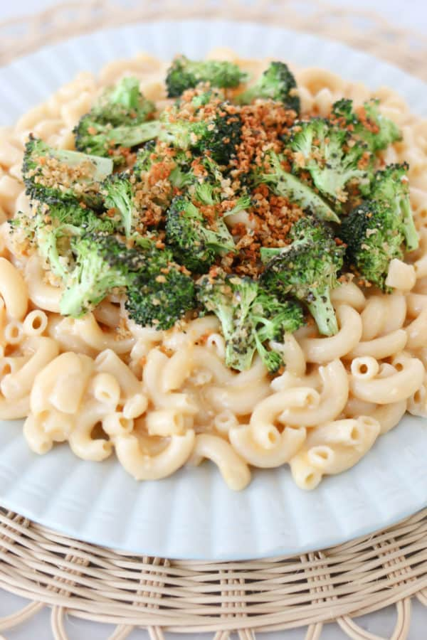 Instant Pot Whole Grain Mac and Cheese with Roasted Broccoli