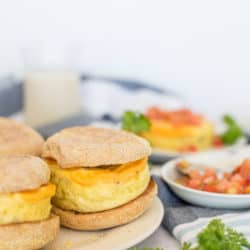 Instant Pot Sausage, Egg, and Cheese Breakfast Sandwich