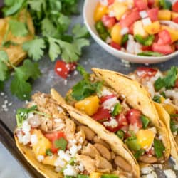 Instant Pot Chili Lime Chicken Tacos