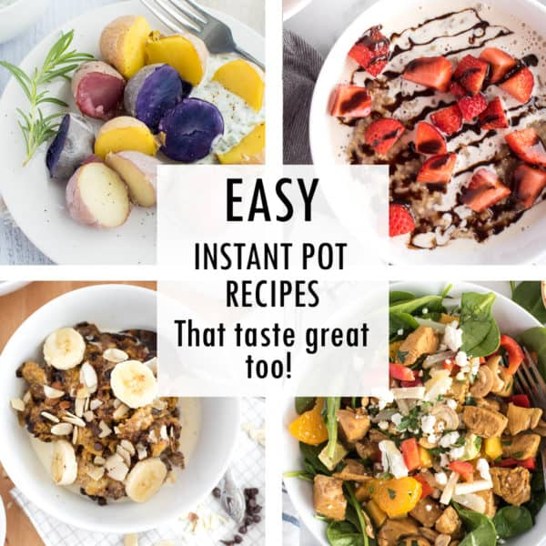 collage of easy instant pot recipes