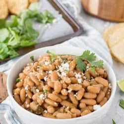 Instant Pot White Beans with Cilantro and Lime