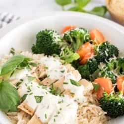 Easy Instant Pot Chicken with Cheese Sauce